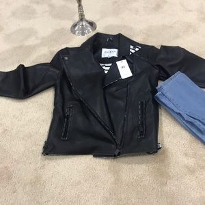 BRAND NEW GUESS LEATHER JACKET WITH TAG